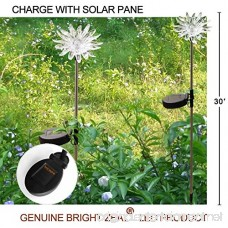 Bright ZEAL [Set of 2] LED Color Changing Solar Stake Lights Outdoor - Solar Light LED Garden Decor Statues (Sunflower) - Patio Lights LED Outdoor Multicolor Changing LED Lights - B07D57CVWH