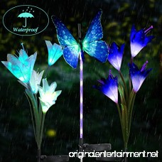 Garden Solar Lights Multi-Color Changing LED Garden Lights 1Pack Butterfly Lights 2 Pack Lily Flower Light Solar Powered Stake Light for Decorative Garden Housewarming Patio Backyard(3 Pack) - B07DL5P35B