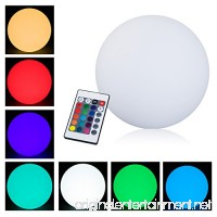 "HOMCOM 16"" RGB Adjustable 16 Color Changing Ball Globe Waterproof Rechargeable With Remote Control - B07BZGWCCJ"