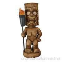 Moonrays 95960 Tiki Themed Outdoor Solar Light Garden Gnome Tiki Warrior - B004GJW6Z8