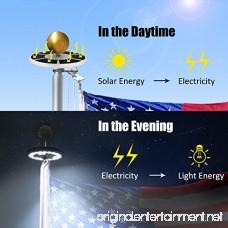 OpenuyeSolar Flag Pole Lights 26 LED Weatherproof Flagpole Downlight Lightfor Most 15 to 25 Ft Flagpole Dusk to Dawn Auto On/Off Night Lighting - B073LKRH9J