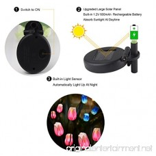 Outdoor Solar Garden Stake Lights SOUBUN 2 Pack Waterproof Multi-color Changing LED Solar Powered Decorative Lights with 8 Tulip Flower for Garden Patio Backyard (Pink and White) - B07D5PV6L6
