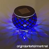 Solar Mosaic Glass LED Decorative Table Light (Iridescent Blue) - B07BB59T7J