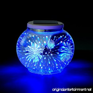 Solar Mosaic Table Lamps Color Changing Yurnero Solar Powered Table Light Crystal Glass Ball Light Indoor/Outdoor Decorations for Christmas Party Holiday Patio Yard(Firework) - B07DC8VDZM