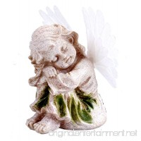 Solar Powered Angel With Solar Fiber Optic Wings LED Garden Light Decor - B076BRG4CZ