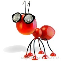 Solar Powered Garden Decoration  Metal Red Ant Statue with LED Lights  Cool Gift Idea for Yard/Backyard/Patio  Highly Durable and Waterproof Outdoor Art Figurine - B07B6B6LWD