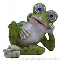 Solar Powered Garden Frog Figurine - B076QHZ3YL