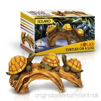 Solar Powered Turtles on Log Decoration- Ultra Durable Polyresin- Intricate Detailing- Wireless Outdoor Accent Lighting- Best Decor Ornaments for Garden/ Yard/ Water Feature - B01L9U5MYI
