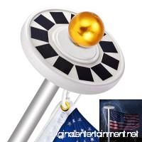 Sunix 30 LED Solar Flag Pole Lights IP65 Weatherproof Flagpole Downlight with 11 Pcs Big Solar Panel for 15 to 25 Ft Auto On/Off Night Lighting - B07BSCCTZ1
