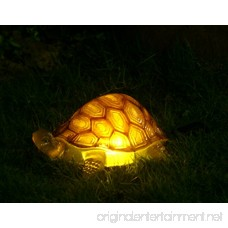 TIAAN 157808 Solar Powered LED Light Garden Decor Turtle with LED Glowing Shell - B0755XGJJV