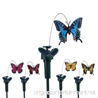 Vanki Solar Yard Stake Fluttering Insects  Solar or Battery Powered  5 PCS Butterfly - B07D1MJQ6W