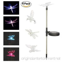 YOUDirect Solar Garden Lights - 4pcs Pack Decorative LED Stake Pathway Lights for Outdoor Garden Lawn Patio Yard Festival with Hummingbird Butterfly Dragonfly 7 color-changing (Birds) - B07F6B3D7M