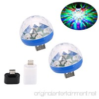 comboss Portable USB Party Lights Mini Disco Ball Sound Activated Light for Laptop Computer Car Android/iOS Mobile Phone 2-Pack - B07FSFGWN4
