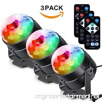 Coupoon Sound Activated Party Lights  3W Led Strobe Dance DJ Light/RGB Disco Ball Lamp Disco Lights for Home Room Birthday Parties Karaoke Xmas Wedding Show Club - B07DFCKLRW