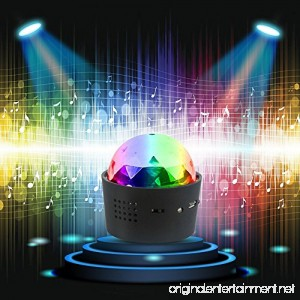 DeeFec Wireless Mini Disco Ball Light Multi-Coloured Crystal Sound Activation Portable LED Party Effect DJ Stage Light with USB RGB Car Decoration Light Party Atmosphere Light - B07FSH1DKR