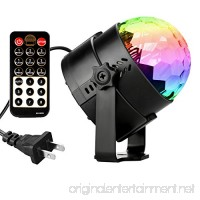 DeepDream Disco Ball Party Light 5W RGB LED Voice Control DJ Karaoke Stage Lights Kids Birthday Gift Home Party Supplies - B073W6VR86