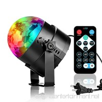 Disco Ball Party Lights  3W RGB Sound Activated DJ Strobe Stage Lights  Perfect for Halloween Christmas  Home Party  Kids Birthday Gifts  Club Bar Wedding Holiday Karaoke Dance Night Lamps. - B0753YDLZH