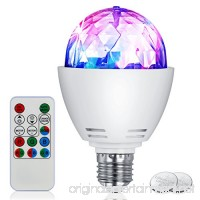 Disco Bulb Light IDRLINK 3W E27 RGB Disco Stage Bulb Sound Activated LED Strobe Light Bulb Party Light with Remote Control-Ideal for Home Party birthday DJ Bar Karaoke Xmas Wedding Show Club Pub - B073TWHWG2