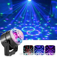 LED Party Lights Magic Ball DJ Disco Lights 3W RGB LED Stage Light 7 Colors Sound KTV Bar Strobe Light with Remote Control - B078YK7928