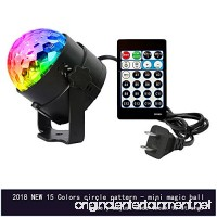 Lixada 15 Colors Mode Sound Activated Party Lights Disco Ball Projecting Lamp Home Stage Bar KTV Wedding Show Pub LED Mini Magic Ball Light with Remote Controller - B07F73FFFF