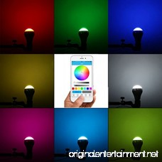 LK&smart Bluetooth Smart LED Bulb Speaker Bulb APP Controlled Dimmable Multicolored Lights - B06XHWZ8LF