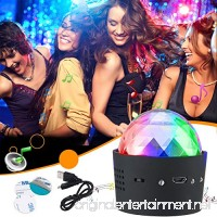 Mini Disco Light  YHone Sound Activated Multi-coloured Battery Operated Disco Ball Light Car Decoration Light   Led Stage Light  Christmas Lights Halloween Party Light (Portable Battery Powered) - B075R5LWRC
