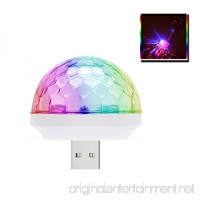 Mini USB Disco Light  Portable Home Party Light  DC 5V USB Disco Ball  Karaoke Sound Actived LED DJ Light - B074PQCN2S