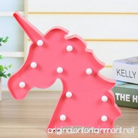 MOOYE 3D Unicorn LED Night Light Led Unicorn Lamps Marquee Battery Operated Table Led Lights Wall Decoration for Girls Bedroom Living Room  Christmas Party as Kids Gift (Red) - B07DN73LZV