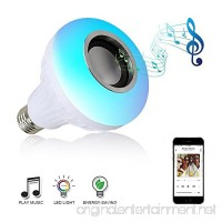 Music Led Light Bulb  Blueseao Remote-Controlled with 3W Bluetooth Speaker E27 12W RGB Built-in Audio Speaker Home Lighting Valentine's Day Party US STOCK - B079GXMSBR
