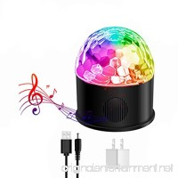 Omkuwl Disco Strobe Ball Bluetooth Speaker USB Charging Party Birthday Lights Sound Activated Rotating Remote Control Lighting - B07CQYHRMK