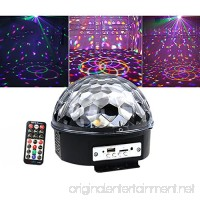 OOFAY 9-Color MP3 Bluetooth Crystal Magic Ball LED Stage Light Disco Laser Light Party Lights Sound Control Projector Music KTV - B07D1PXZ3D