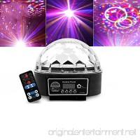 OOFAY LED RGB Crystal Magic Effect Ball Lights Voice 9 Color Digital Crystal Magic Ball Ktv/Christmas Party Magic Ball Stage Lights - B07D1PKS14