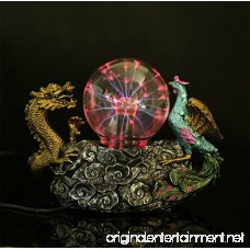 OOFAY LIGHT® Plasma Ball Light Magic Lighting Crystal Electrostatic Induction Dragon Phoenix Auspicious Decorative Ornaments Resin Craft Gifts - B07CPSVRW1