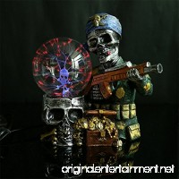 OOFAY LIGHT® Plasma Ball Light Magic Lighting Resin Crafts Creative Crystal Glowing Pirate Skull Ornaments - B07CSS88VJ