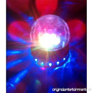PYSICAL Black LED RGB Crystal Rotating Magic Ball Sunflower Colorful Lighting Lamp Perfect Christmas Gift Best for Party Disco Dj Stage Light Stage Lighting for Xmas Party Club Pub Birthday - B00J5EL0OW
