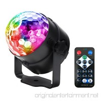 Sound Activated Disco Ball LED Strobe Light   RBG Disco Ball  Portable Strobe Lamp 7 Modes Stage Par Light for Home Room Dance Parties Birthday DJ Bar Karaoke Xmas Wedding Show Club Pub with Remote - B076LS6FBG