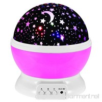 Star Projector Night Light Star Lighting Rotating Projector Sky Moon Star Bedroom Lamp 4 LED Bulbs 9 Light Color Changing with 3.2FT USB Cable Unique Gifts for Men Women Kids Best Baby Gifts (Pink) - B075DKSQD4