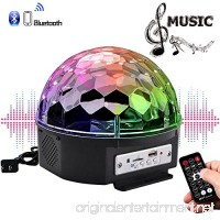 YouOKLight Sound Activated 6 Color LED Music Crystal Magic Ball MP3 Disco DJ Stage Lighting with Remote Control for Home Room Dance party Birthday Gift Kids Club Wedding Decorations - B01M24XNMT