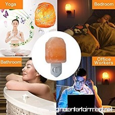 2-Pack Mini Plug in Salt Lamp NaturalHimalayan Pink Crystal Salt Rock Night Wall Light with Incandescent Bulb and Multi LED Color Changing Bulb - B06XHH9FGN
