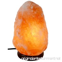 A-Star(Tm) Himalayan Hand Carved Salt Lamp with Genuine Wood Base  Bulb and Switch (Natural (3-5lbs)) - B06XTRLJWW