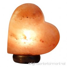A-Star(Tm) Natural Crystal Salt Lamp USB Plug with Genuine Wood Base (Heart) - B06XWVXHKW