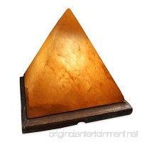 Crystal Allies Gallery: CA SLS-PYR-L Natural Himalayan Pyramid Salt Lamp on Wood Base with Cord  Light Bulb & Authentic Crystal Allies Info Card - B00V8YJWVA