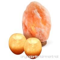 Crystal Allies Gallery: Natural Himalayan Salt Lamp and 2 Piece Apple Candle Holder Combo - B00WA8ZINE