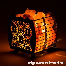 CRYSTAL DECOR Natural Himalayan Hybrid Wired Cube Basket Pink Salt Lamp in a Modern and Contemporary Design with Dimmable Cord - Flanigan - B074PBMTT9