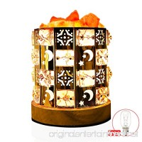 Decolighting Himalayan Salt Lamp  Natural Salt Lamp Salt Crystal Chunks in Acrylic Diamond Cylinder with Wood Base  Bulb and Dimmer Control for Christmas Gift and Home Decorations. [energy class a+++] - B06Y4246TF