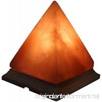 Deluxe Comfort Pyramid Himalayan Lamp - 7 x 7 x 8 - 16 LBS on Beautiful Wood Base Base w/Bulb & Cord - B016I98BE8