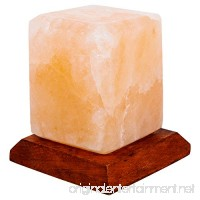 Fab Glass and Mirror SL-CBS34-USB Pure Himalayan Crystal Rock Salt Sub Lamp  Pink - B079X1BHBH