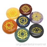 Healing Crystals 7 Polished  Engraved Stones to Balance Chakras Holistic Health Care Products - B00URNT8ZS