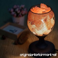 Himalayan Glow Salt Lamp Night Light with Wire Mesh Basket Vase Lamp  Pure Rock Salt Lamp with Dimmer Switch  UL-Listed Cord and Salt Chunks (Black) - B075RS767J