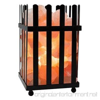 Himalayan Glow Salt Lamp with Salt Chunks in Picket Design  Night Light Table Lamp by WBM - B00EU5NGZ2